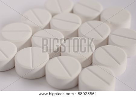 White Round Medicine Table