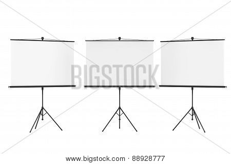 Blank Projection Screens