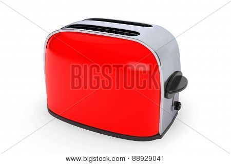 Kitchen Appliance. Vintage Red Toaster