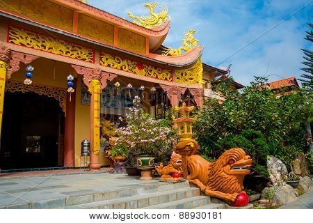 Buddhist Temple In Vietnam