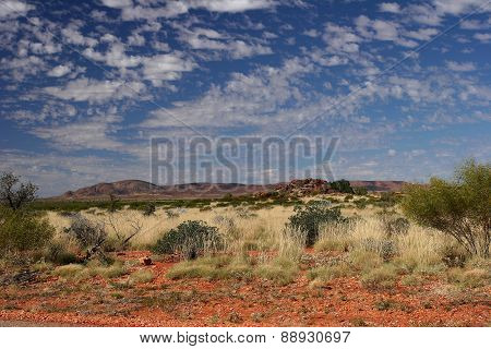 Red Outback soil and rocks