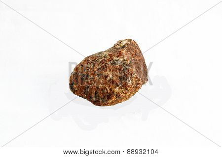 Rock From Grand Canyon, Isolated On White Background.