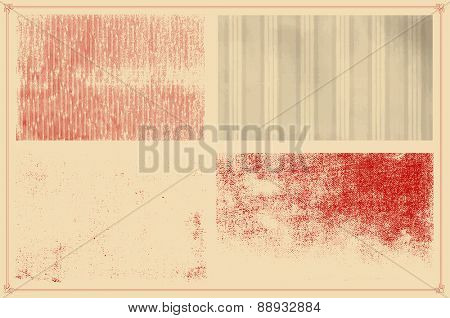 Grunge textures set. background. vector