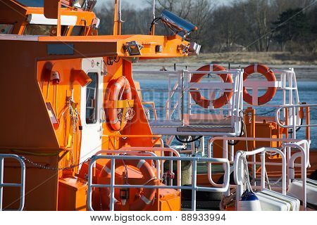 Equipment On A Maritime Pilot Boat