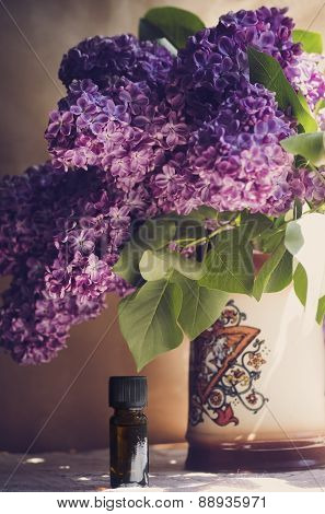 Oil From The Fragrant Flowers Of Lilac