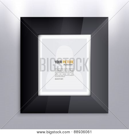 Black frame for your photo or picture.