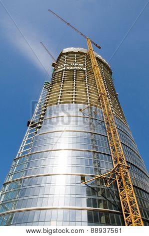 Warsaw Spire Under Construction