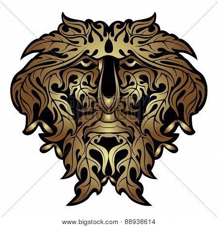 Golden Spirit Face or mask