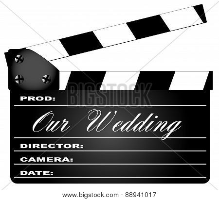 Our Wedding Clapperboard