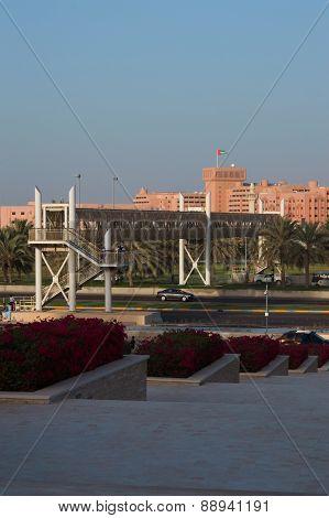 Streets Of Abu Dhabi At Day, Capital Of United Arab Emirates