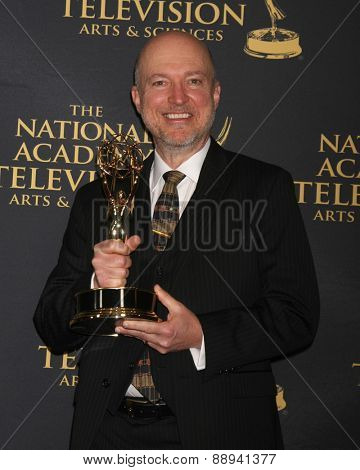 LOS ANGELES - FEB 24:  Outstanding Lighting Direction for a Drama Series Winner at the Daytime Emmy Creative Arts Awards 2015 at the Universal Hilton Hotel on April 24, 2015 in Los Angeles, CA