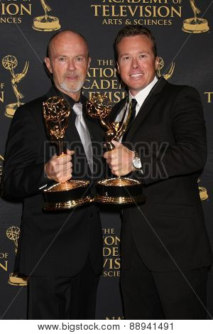LOS ANGELES - FEB 24:  Mike Cassidy, Mickey Cassidy at the Daytime Emmy Creative Arts Awards 2015 at the Universal Hilton Hotel on April 24, 2015 in Los Angeles, CA