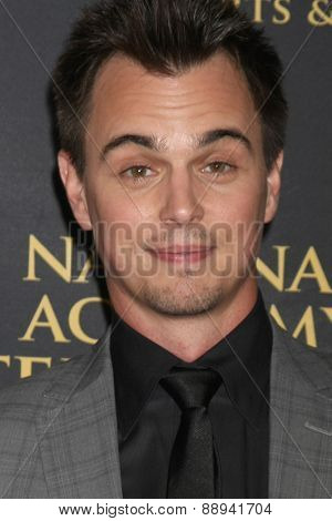 LOS ANGELES - FEB 24:  Darin Brooks at the Daytime Emmy Creative Arts Awards 2015 at the Universal Hilton Hotel on April 24, 2015 in Los Angeles, CA