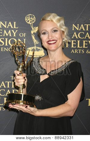 LOS ANGELES - FEB 24:  Glenda Maddox, Bold and Beautiful Costume Designer winner at the Daytime Emmy Creative Arts Awards 2015 at the Universal Hilton Hotel on April 24, 2015 in Los Angeles, CA