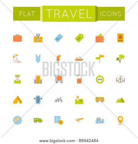 Vector Flat Travel Icons