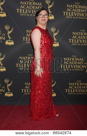 LOS ANGELES - FEB 24:  Judy Adams at the Daytime Emmy Creative Arts Awards 2015 at the Universal Hilton Hotel on April 24, 2015 in Los Angeles, CA