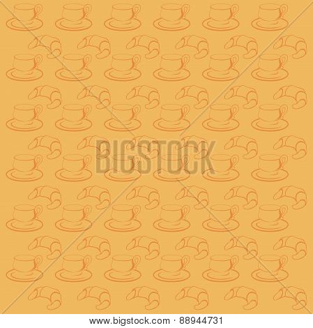 texture with cup and croissant