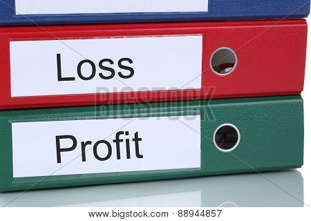 Loss And Profit In Company Business Concept
