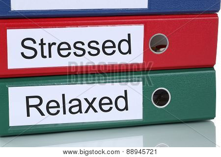 Stressed And Relaxed Healthcare In Office Business Concept