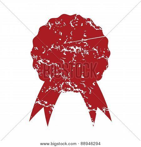 Red grunge medal logo
