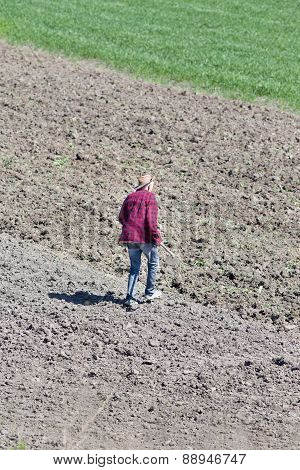 Peasant Walking On Soil