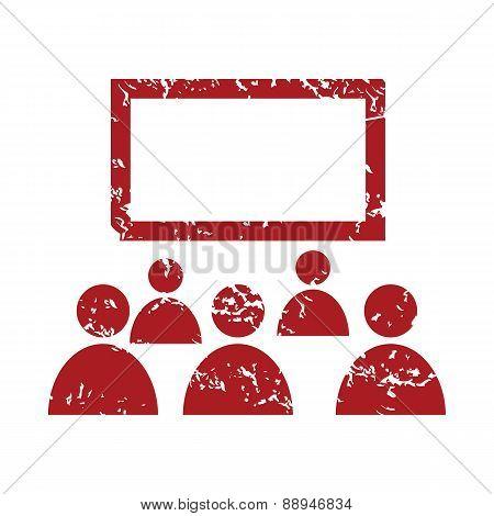 Red grunge theater logo