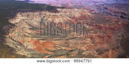 Aerial view of Colorado grand canyon, Arizona, usa