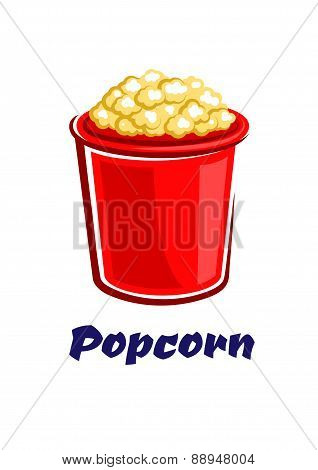 Fresh popped cartoon takeaway popcorn