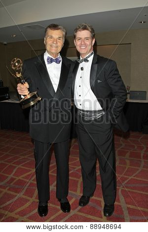 LOS ANGELES - APR 24: Harlan Boll, Fred Willard at The 42nd Daytime Creative Arts Emmy Awards Gala at the Universal Hilton Hotel on April 24, 2015 in Los Angeles, California