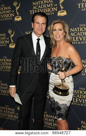 LOS ANGELES - APR 24: Vincent De Paul, Martha Byrne at The 42nd Daytime Creative Arts Emmy Awards Gala at the Universal Hilton Hotel on April 24, 2015 in Los Angeles, California