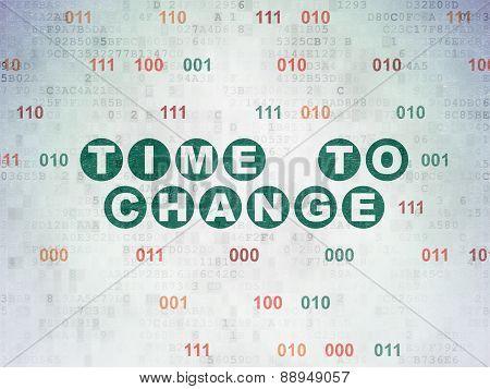 Timeline concept: Time to Change on Digital Paper background