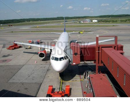 Airbus A321 Parked At Gate