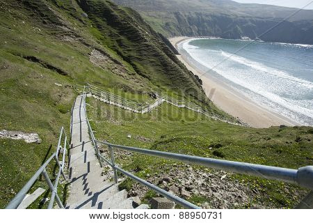 Silver Strand steps in Ireland