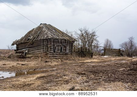 Deserted village in the Russian province