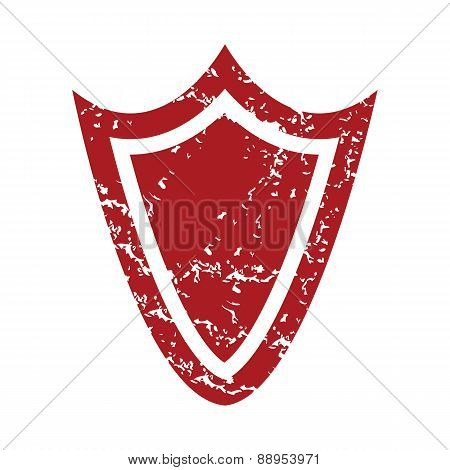 Red grunge shield logo
