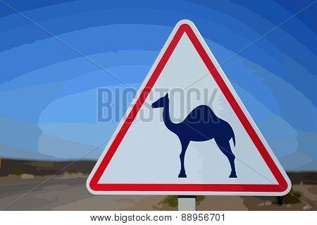 sign camel
