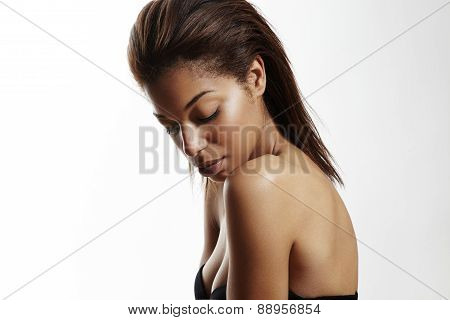 Black Woman With Ideal Skin