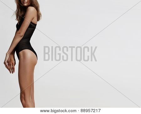 Perfect Shaped Woman In Black Body