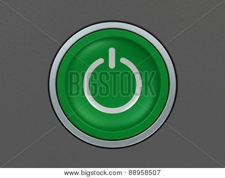 power button on gray