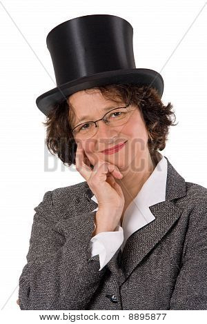Woman With Stovepipe Hat