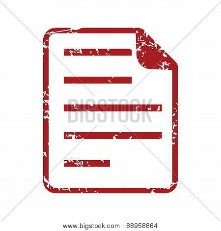 Red grunge page logo