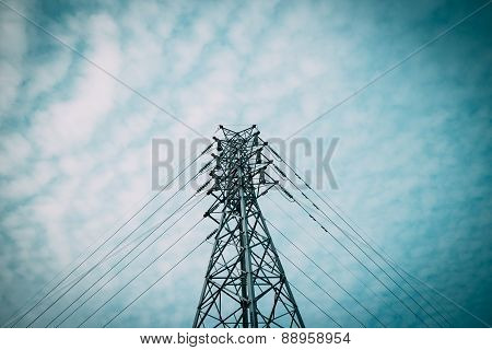 Electricity Power Line Pylon