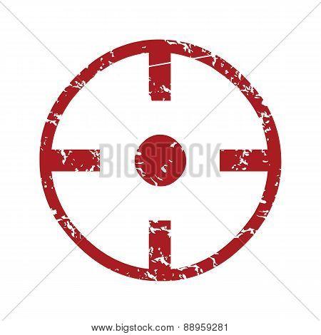 Red grunge purpose logo