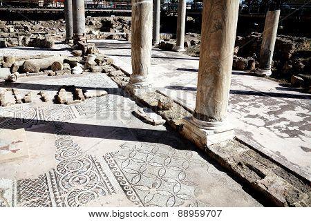Roman ruins and mosaics, Paphos, Cyprus