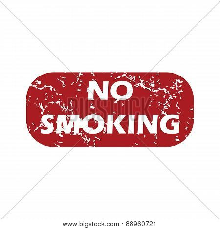 Red grunge no smoking logo