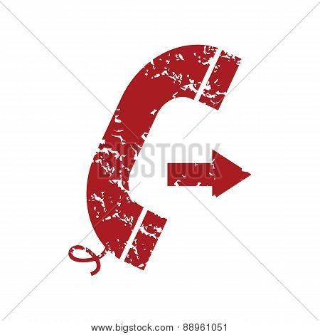 Red grunge outgoing call logo