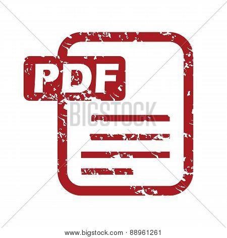 Red grunge pdf logo