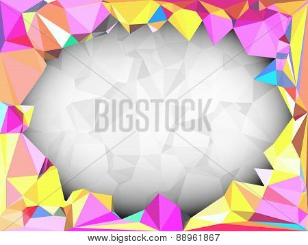 Vivid Color Polygonal Background With Space For Adding Text