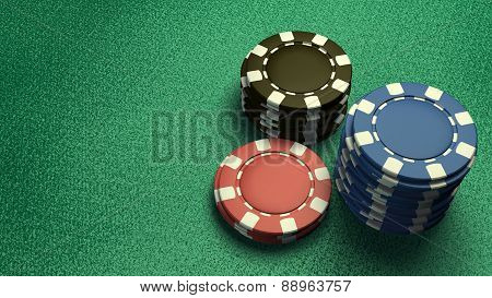 Focus Of Casino Chips