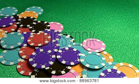 Many Of Casino Chips Colorful